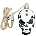 Solong Tattoo Professional Skull Stainless Steel Tattoo foot switch/pedal for Power Supply Black P219-1