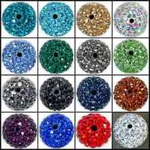 20~ 100 шт./лот, хорошее качество 10 мм 12 мм смешанные цвета глиняные бусины Шамбала