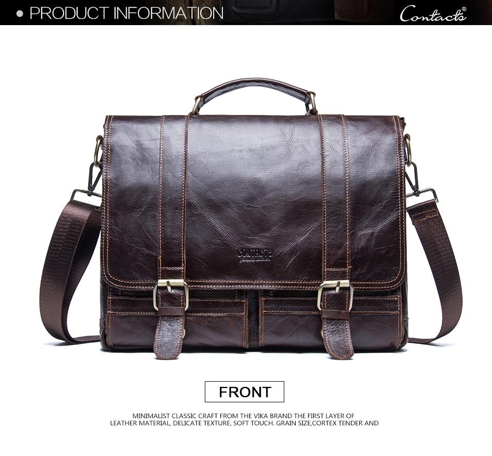 HTB1nPDVtCtYBeNjSspkq6zU8VXaK CONTACT'S men's briefcase genuine leather business handbag laptop casual large shoulder bag vintage messenger bags luxury bolsas