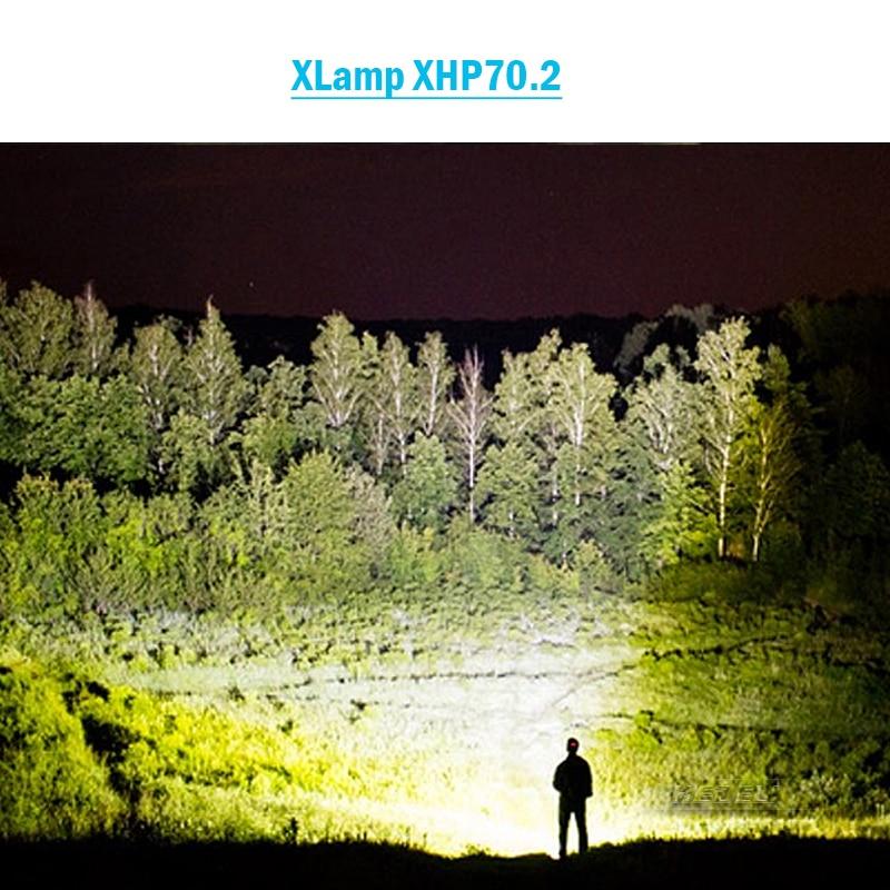 8000 lumens high powerful led headlamp XLamp xhp70.2 headlight head torch rechargeable xhp70 head lamp xhp50 power flashlight