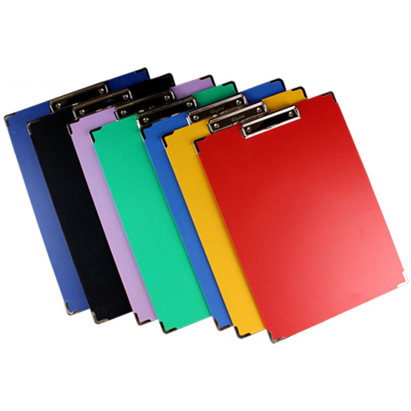 1 piece paper clip board 8k multi function clipboard colorful board