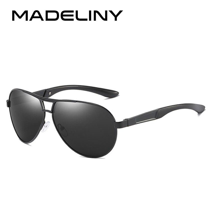 MADELINY Pilot Polarized Sunglasses Men Driving Sports Sunglasses Men Metal Eyewear Sun Glasses UV400 MA118