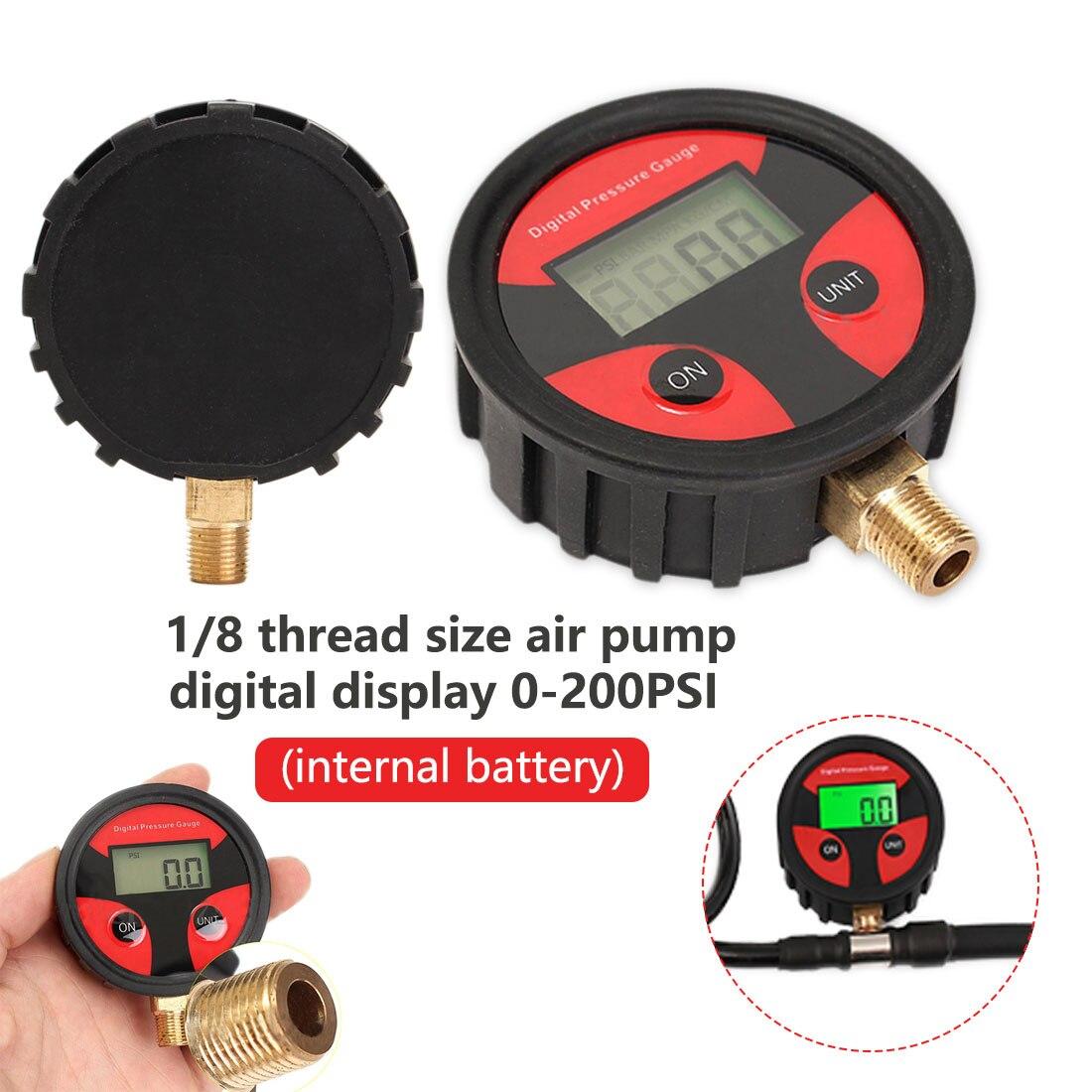 Цифровой датчик давления воздуха для автомобильных шин 0-200 psi ЖК-дисплей манометр барометр тестер для автомобиля Грузовой автомобиль, мотоц...