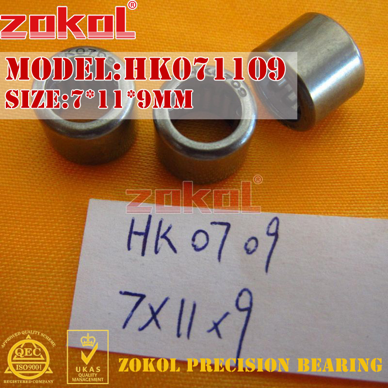 ZOKOL bearing HK071109 HK0709 Needle Roller Bearing 7*11*9mm chainsaw piston assy with rings needle bearing fit partner 350 craftsman poulan sm4018 220 260 pp220 husqvarna replacement parts
