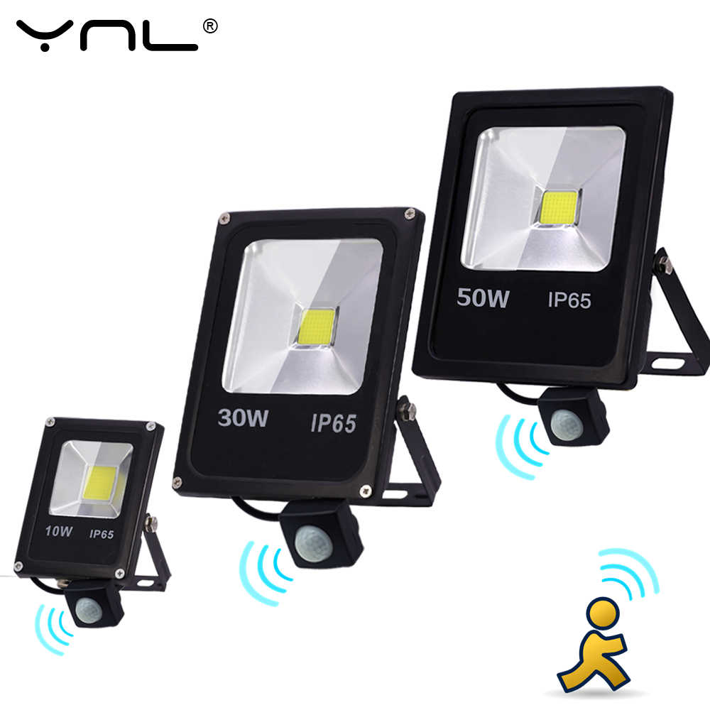 Motion Sensor 10W 30W 50W LED Flood Light 220V Waterproof IP65 Reflector Floodlight Lamp foco Led Spot Outdoor Light  Lighting