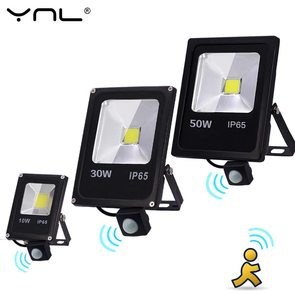 Motion Sensor 10W 30W 50W LED Flood Light 220V Waterproof IP65 Reflector Floodlight Lamp Foco Led Spot Outdoor Light  Lighting