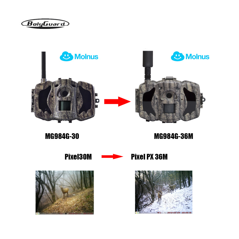 hunting camera 4G 36M 1080PHD wildlife camera 100ft phototrap mms ems waterproof wireless camera thermal imager molnus in Hunting Cameras from Sports Entertainment