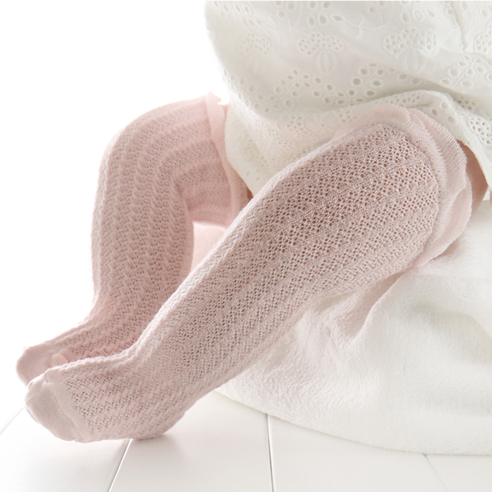 Baby Girls Cotton Socks Children Baby Thigh High Over Knee Breathable Socks Kids Thin Mesh