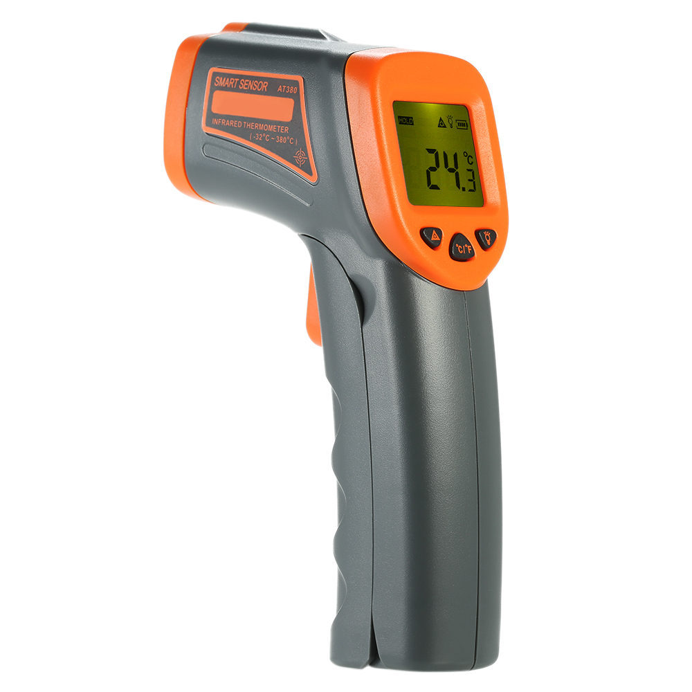 Portable Handheld Digital Noncontact IR Infrared Thermometer Temperature Tester Pyrometer LCD Display With Backlight Centigrade elecall 50 800c adjustable emissivity autooff lcd noncontact digital laser infrared thermometer ir high temperature gun tester page 9