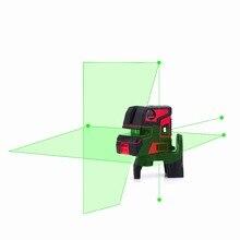 New leter Automatic Self Leveling 2 Line 5 Point 1V1H Laser Level LT-602  Green laser  level цена 2017