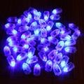 50 шт./лот LED RGB Лампы-Вспышки Шар Света для Бумажный Фонарь Шар Белый, красный, синий, зеленый, желтый Свадебные Украшения