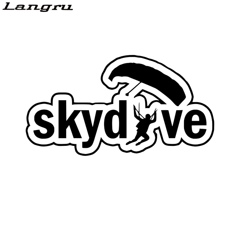 Langru Interesting Skydive Silhouette Car Sticker Vinyl High Quality Decor Car Accessories Jdm(China)