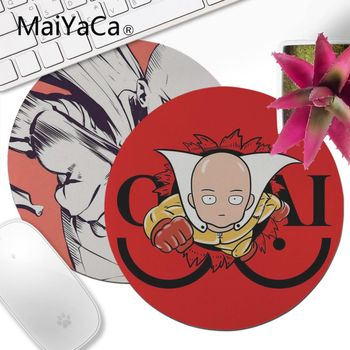 MaiYaCa  One Punch Man Durable Rubber Mouse Mat Pad 200x200mm 220x220mm Round Mouse Pad
