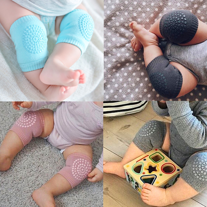 Safty Baby Knee Pads Protector Baby Crawling Leg Cushions Anti-Slip Knee Compression Sleeve Kneecap Coverage Leg Warmers Cotton
