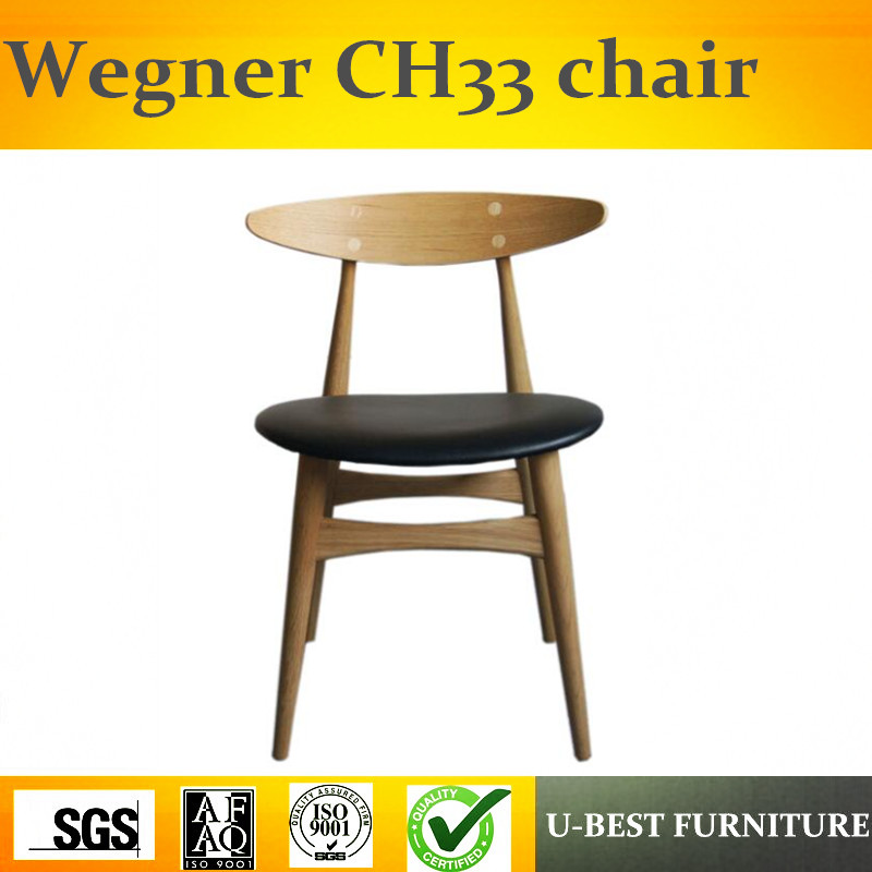 Free shipping U BEST European style solid wood dinning chair with PU leather seat|Dining Chairs|   - title=
