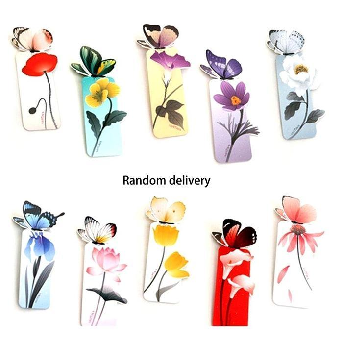 Lovely Butterfly Bookmark Creative Stationery Office Cartoon Animal Book Marks Clip Beautiful Gift 13cm
