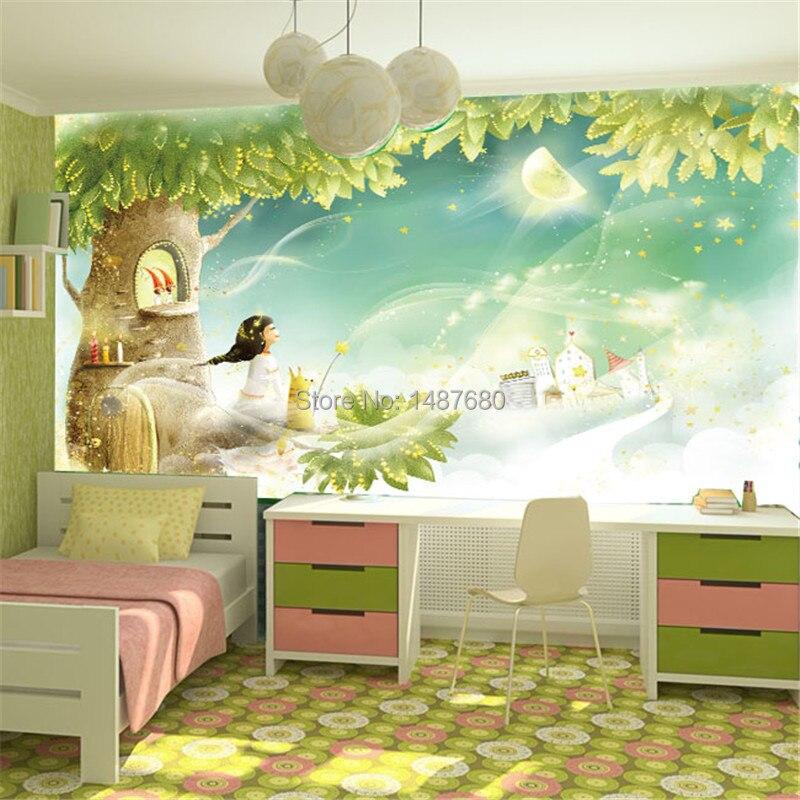 Kids Bedroom Background beibehang children room dream cartoon background custom photo wall