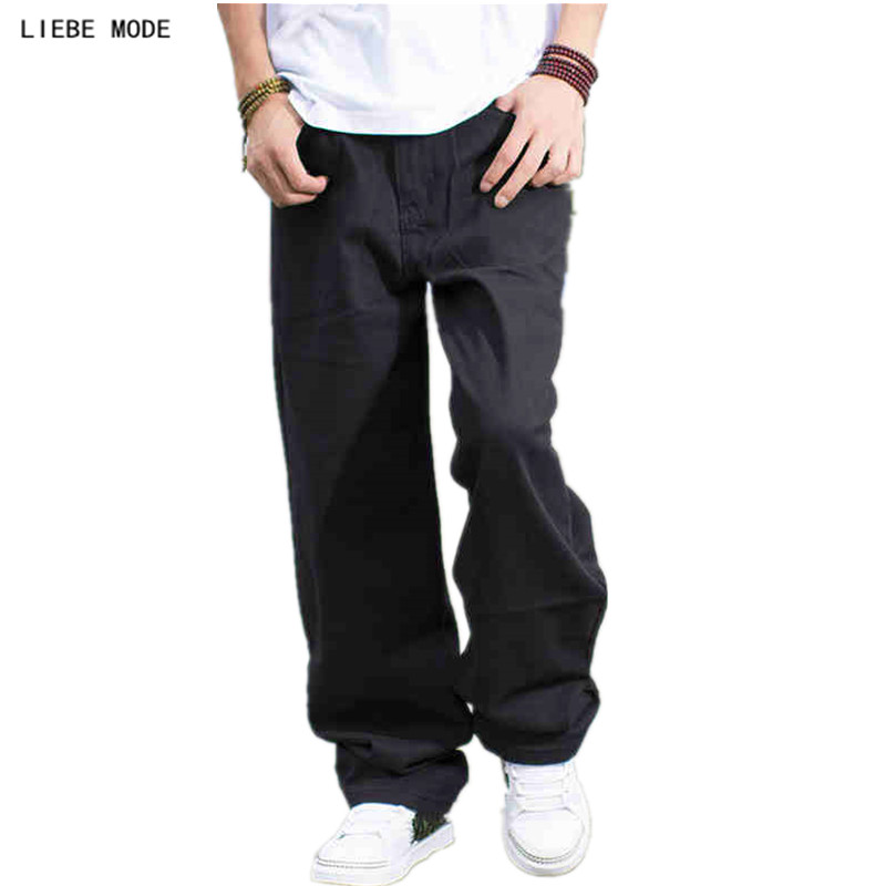 New 2019 Plus Size Mens Black Loose   Jeans   Pants   Jeans   Men Hip Hop Designer   Jeans   Homme