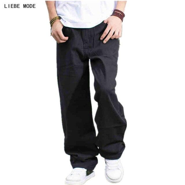 86ab38d2ef372 Nouveau 2019 grande taille hommes noir lâche Jeans pantalons Jeans hommes  Hip Hop Designer Jeans Homme