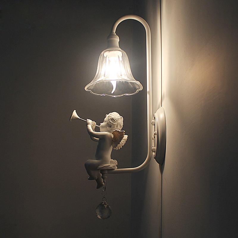 Moderne LED Wandlampen Europa Stijl Vintage Bedlampjes Balkon/Trap Verlichting Rustieke Wandlamp E14 3 W led decoratie Verlichting-in LED Indoor Wandlampen van Licht & verlichting op HengstarLED Store