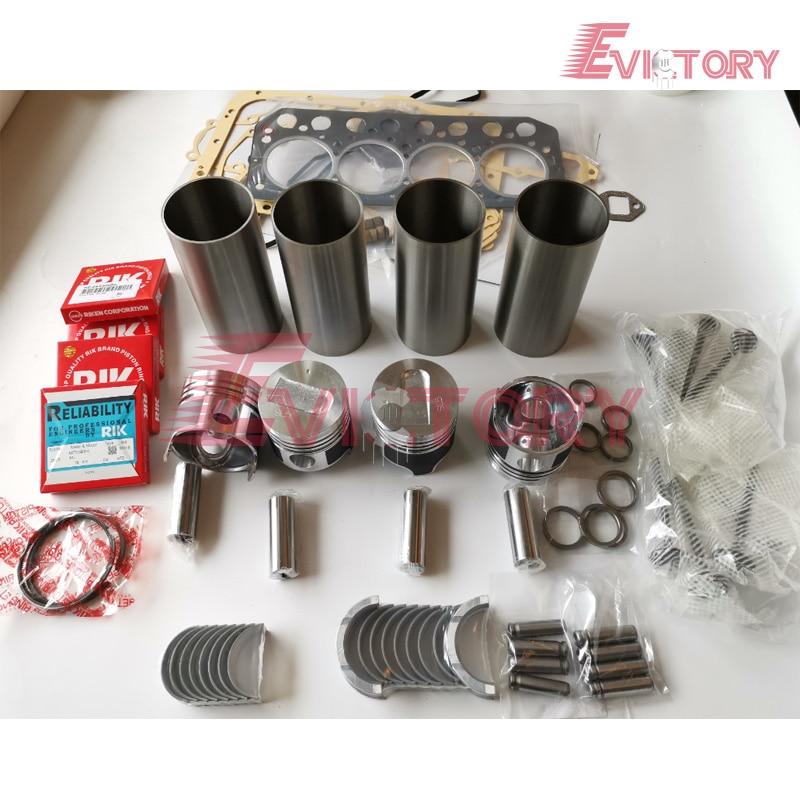Escavadeira motor reconstruir kit para Mitsubishi S4L2 S4L kit de anéis de pistão do cilindro da válvula kit de rolamento do motor gasekt