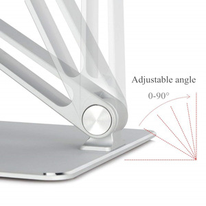 Image 2 - Notebook Stand Adjustable Angle Aluminum Alloy Free Lift Laptop Heighten Holder for Macbook Dell HP iPad Pro 7 17 inch