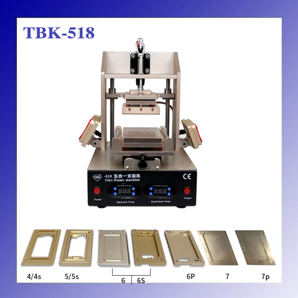 все цены на  TBK-518 5in1 LCD Refurbish Machine Middle Bezel Separator/Frame Laminating Machine/Vacuum LCD Separator/Glue Remover / Preheater  онлайн