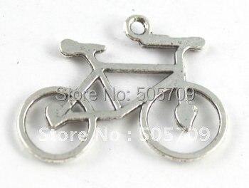 225 шт. тибетское Серебро Милый велосипед подвески A15503