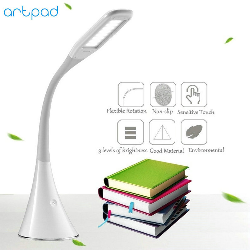 Artpad 360 Degree Flexible Gooseneck Touch Dimmer LED Table Lamp Desk Table Light LED Desk Lamps For Reading Office Study USB new arrival t10 led panel desk table light lamp 7w 12v desk lamps reading light sliding touch dimmer desk night light lamps hr