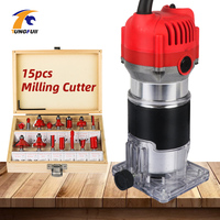 500W 600W Electric Trimmer 30000rpm Woodworking Electric Wood Trimmer Carving Machine Carpenter Milling Cutter Power Tools Electric Trimmers     -