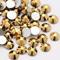 QIAO Новый Золотой Гематит, не горячей фиксации Flatback клеевые стразы украшения с драгоценными камнями для украшения из ткани