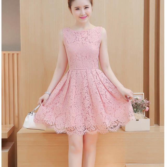 642edadf121 placeholder White Lace Dress Plus Size Sundress Korean Kawaii Cute Skater  Dress Women 2018 Summer Robe Femme