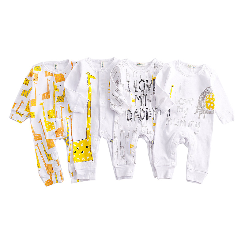 2017 Autumb Baby Boy Girls Rompers Cotton Animal Giraffe Costume Long Sleeve Newborn Jumpsuits Infant Clothes Roupas Infantil baby girl rompers 100% cotton overalls autumn winter kids long sleeve jumpsuits newborn infantil boys clothes baby costume bebes