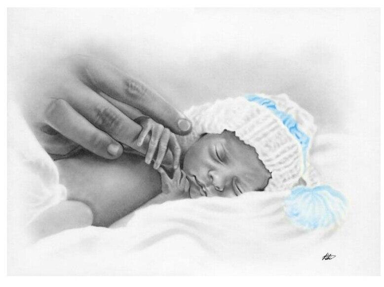 送料無料トップ品質人気カウントクロスステッチキット新しい生まれた赤ちゃん、赤ちゃんでベッド  グループ上の ホーム&ガーデン からの パッケージ の中 1
