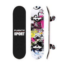 PUENTE 602 ABEC - 9 Four-Wheel Double Snubby Maple Skateboard 5 Inches 5V Magnesium Aluminum Alloy Truck