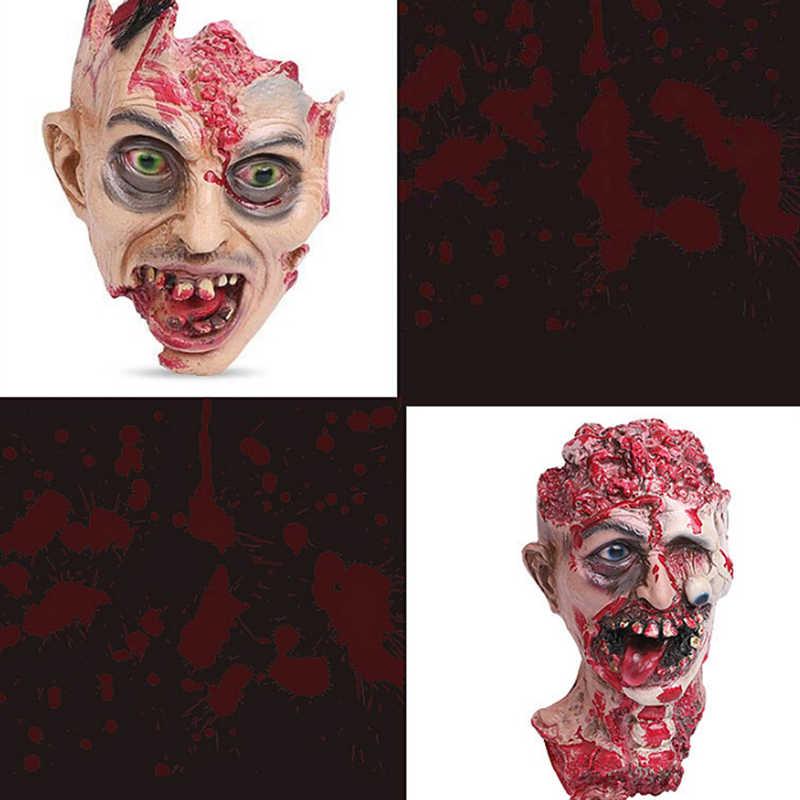 Новая горячая продажа Хэллоуин пугающая Маска Голова человека Хэллоуин, привидения дом тухих зомби аккуратные реквизит декорация дом с привидениями