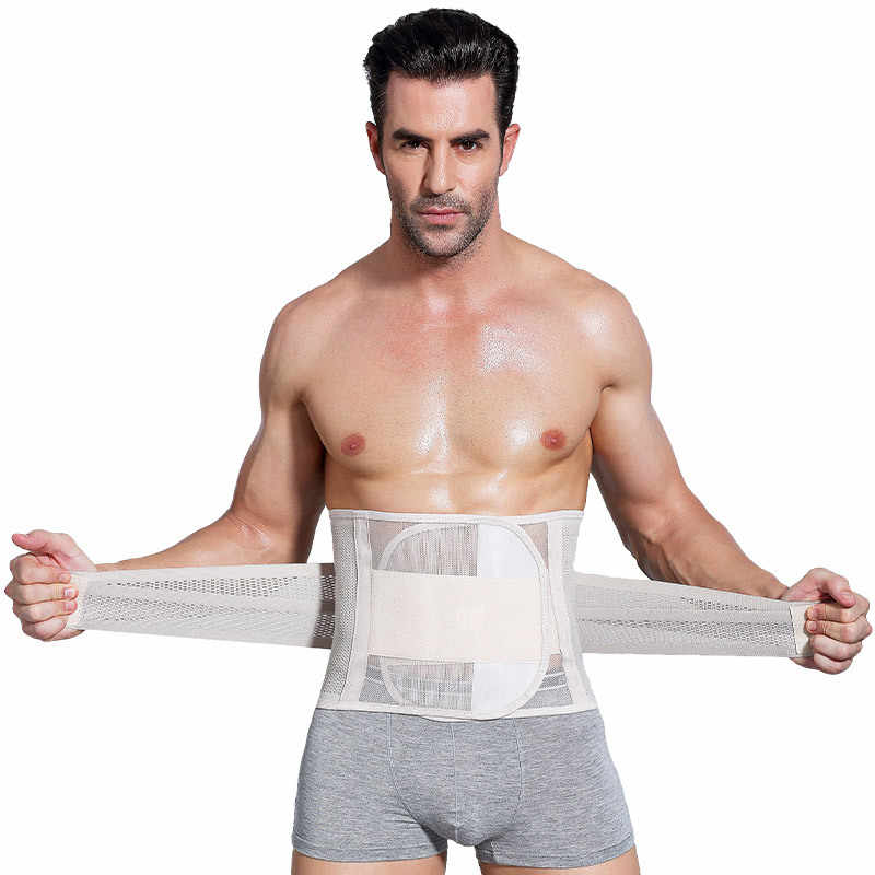 d8a035899b634 ... Men Health Belt Body Shaper Male Waist Shapewear Steel Bone Belly Band  Modeling Strap Belt Slimming ...