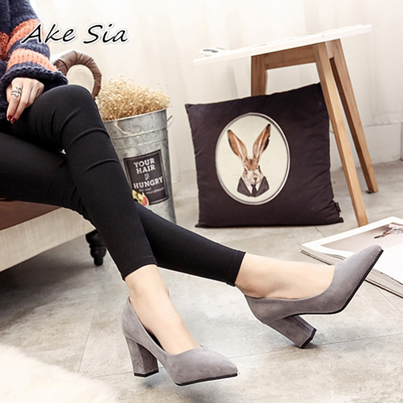 2019 Spring And Autumn New Fashion Pointed Shallow Mouth Women's Shoes Ladies Wild Sexy Comfortable Shoes Q07