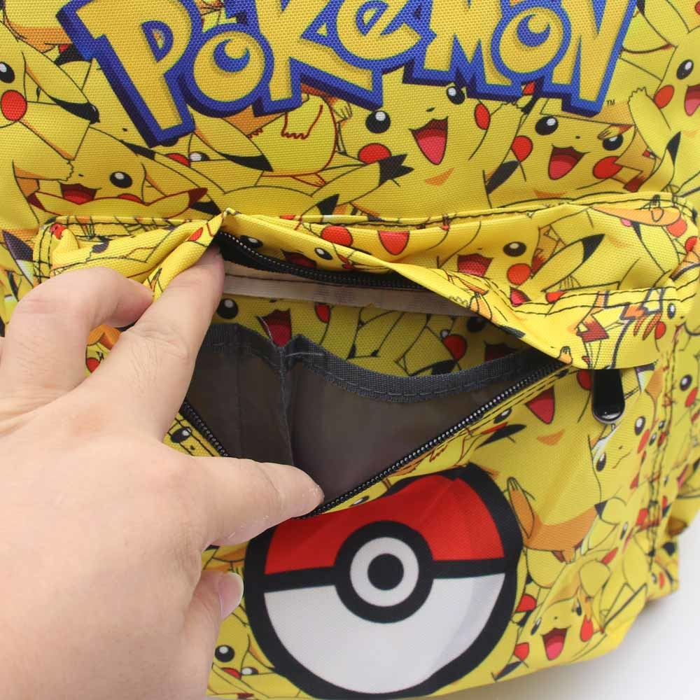 Game anime pokemon go pikachu POKE BALL Backpack student book bag canvas men women Shoulder Bag 8 style