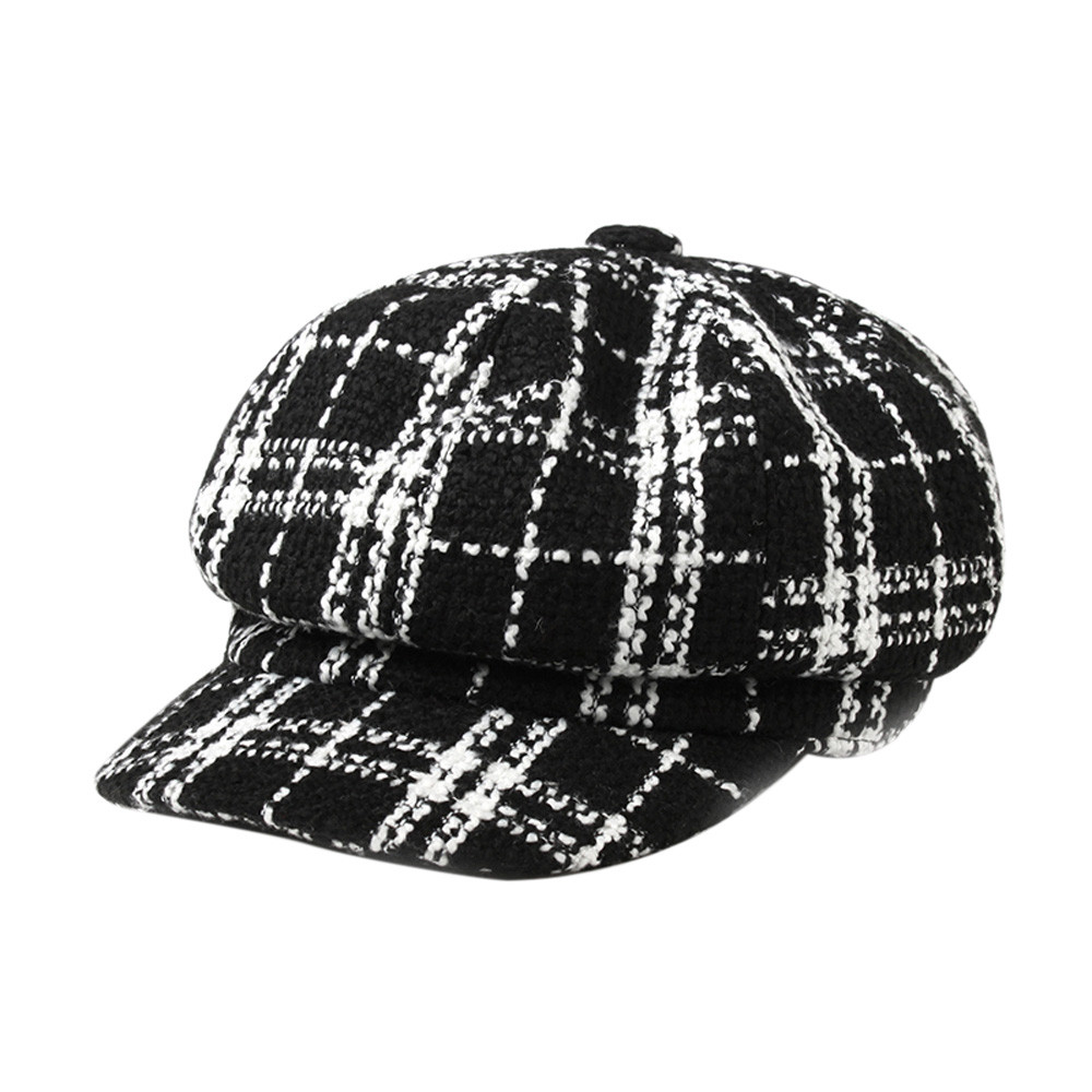 8786e1c311a Detail Feedback Questions about winter Newsboy Hat Berets for men Women  lattice Soft Sweatband Gorras Casual Visor Cap Female woll beret Octagonal cap  hats ...