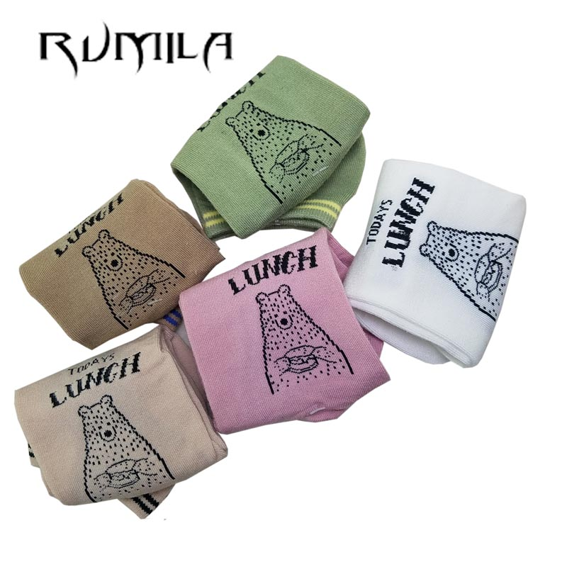 CAT Warm Comfortable Cotton Bamboo Fiber Girl Women's Socks Ankle Low Female Invisible  Color Girl Boy Hosier 1pair=2pcs WS75