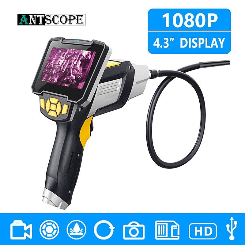 Antscope 1080 p HD 8mm Endoscope 4.3 pouce Voiture Caméra D'inspection De Poche 1/3/5/10 m Endoscope Au Lithium Batterie Serpent Dur Caméra 30
