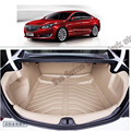 free shipping 5d full cover fiber leather waterproof car trunk mat for buick regal 2010-2017 5th generation opel insignia