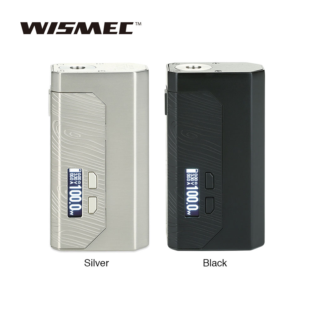 New WISMEC Luxotic MF Box VV MOD with 7ml Refillable Squonk Bottle 0 91 inch Clear