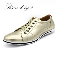 BIMUDUIYU Brand High Quality Male Casual Shoes Plus Size 38 49 Leisure Leather Shoes Breathable Fashion
