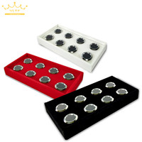 Dismountable 8 Slot Diamond Accessories diamond Boxes Jewelry Cases Storage Organizer Tray 11*22 CM