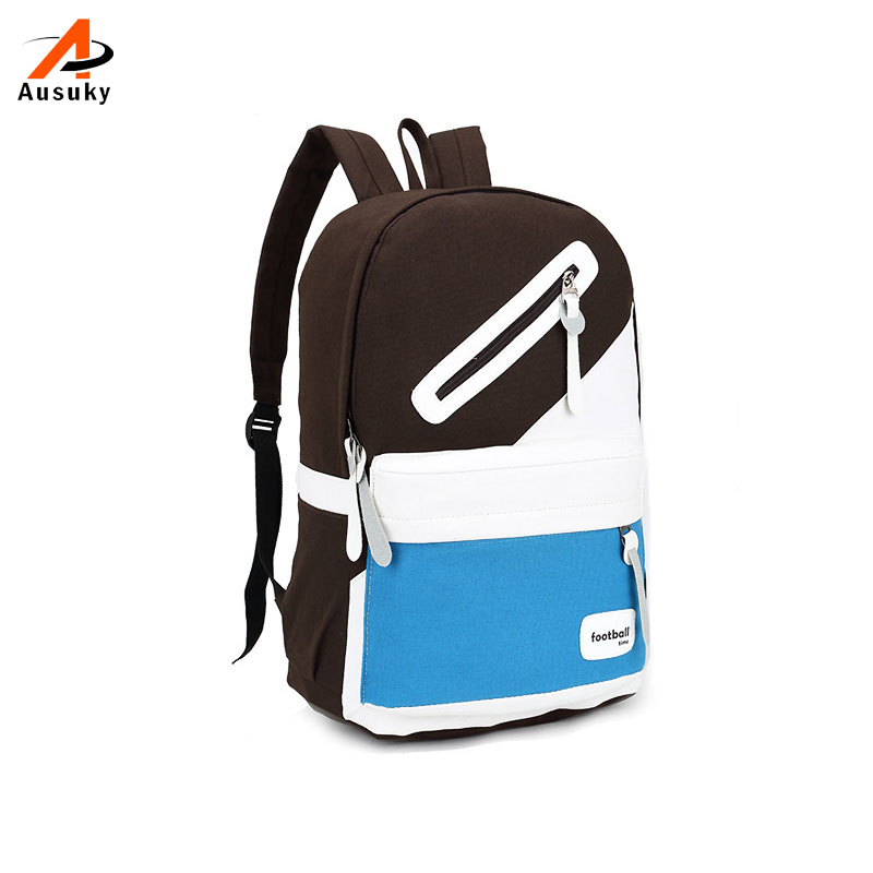 Fashion Girl School Bags For Teenagers Cute Patchwork Canvas Women Backpack Mochila Femi ...
