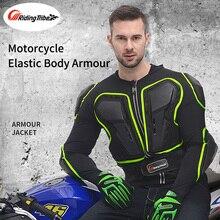Motorrad Reiten Schutz Jacke Voller Körper schutz Rüstung Reiter Biker Kneedpads Zurück Schulter Brust Neck Brace Bandage Schutz