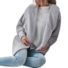 Sexy Fluffy Fleece Hooded Cardigan 3 Colors