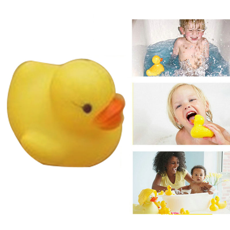 20Pcs Squeaky Ducky Baby Bath Toys Cute Rubber Ducks Children Kids Water Playing Toy YJS Dropship in Bath Toy from Toys Hobbies
